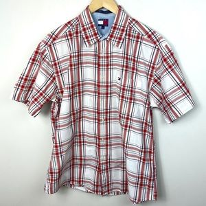 Tommy Hilfiger Short Sleeve Cotton Button Up Shirt